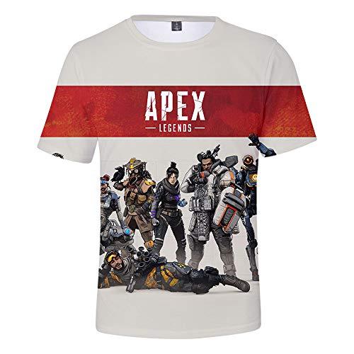 LIDAEDS Apex Legends, Vollfarbiges 3D-Bedrucktes KurzäRmeliges T-Shirt mit GrößE füR Erwachsene Kinder(Bitte Beachten Sie fie GrößEntabelle),13#,S