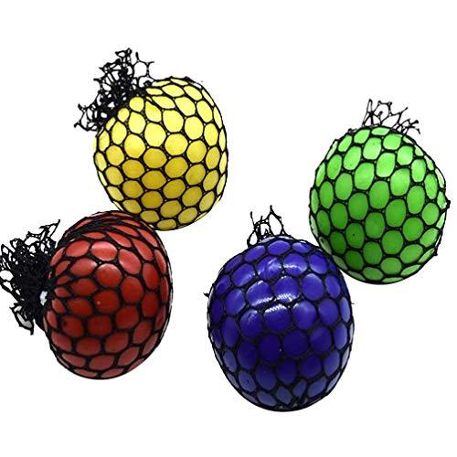 ABOOFAN 4 Piezas de Malla Bolas Sensoriales UVA Bolas Hinchables Sensoriales Fidget Juguetes Favor de Fiesta Relleno de Bolsa de Regalo para Niños
