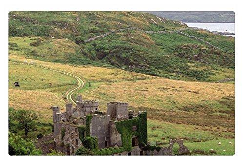 irocket Innen Boden Teppich/Matte–Irland County Galway Clifden Castle (59,9x 39,9cm 60cm x 40cm)