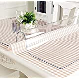 L STYLE テーブルクロス 防油 テーブル 透明マット 撥水テーブルマット 汚れ防止デスクマット PVC製 厚さ1mm/1.5mm/2mm 長方形 80*135cm (透明 厚さ1.5mm, 80*120)