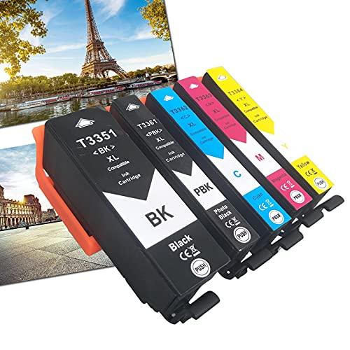 OGOUGUAN 33 XL - Cartuchos de tinta compatibles con Epson Expression Premium XP-530 XP-540 XP-630 XP-635 XP-640 XP-645 XP-830 XP-900 (5 paquetes)
