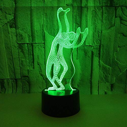 WULDOP Luz Nocturna Para Niños Hombre saludando baile creatividad Lámpara Nocturna Luz De Noche Luz Quitamiedos Infantil Led Para Habitación Infantil Dormitorio Baño Cuna Pasillo