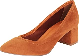 Cambridge Select Women's Slip-On Chunky Block Low Heel Pump