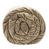 BlanQuil Quilted Weighted Blanket W/ Removable Cover (Taupe 20lb)