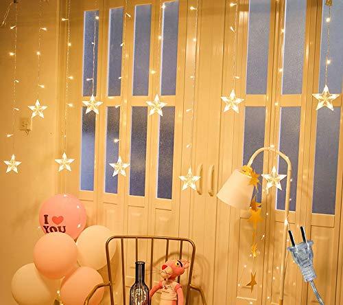 Yankuoo Led-hanger met sterren, licht schaduw, kroonluchter, plafond hangend, droplight lantaarn voor slaapkamer, restaurant, woonkamerverlichting voor thuis, geweldig cadeau voor kinderen en vrienden