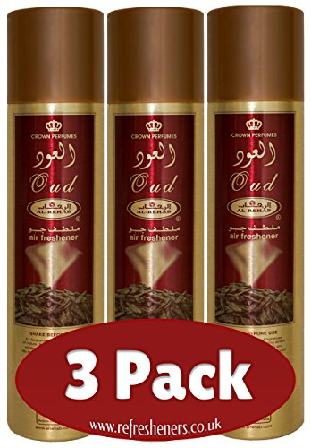 Al-Rehab 'Oud' Scent Room Spray / Air Fresheners for the Home, Car and Office from the UAE by Al Rehab