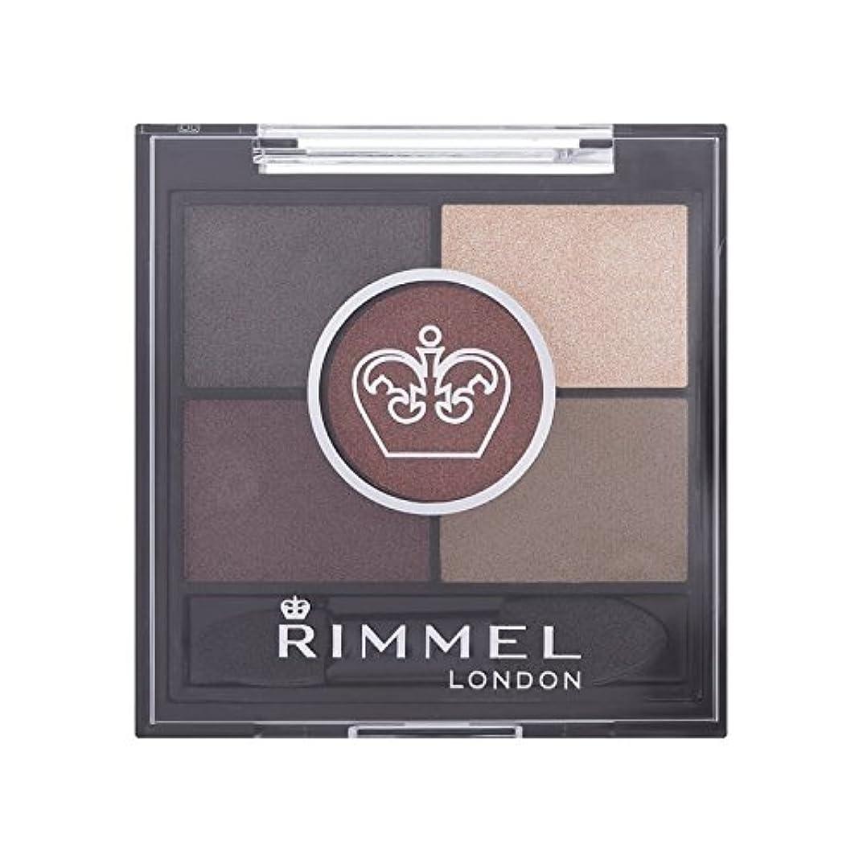 海軍症状分析茶色のブリクストンリンメル5パンアイシャドウ x4 - Rimmel 5 Pan Eyeshadow Brixton Brown (Pack of 4) [並行輸入品]