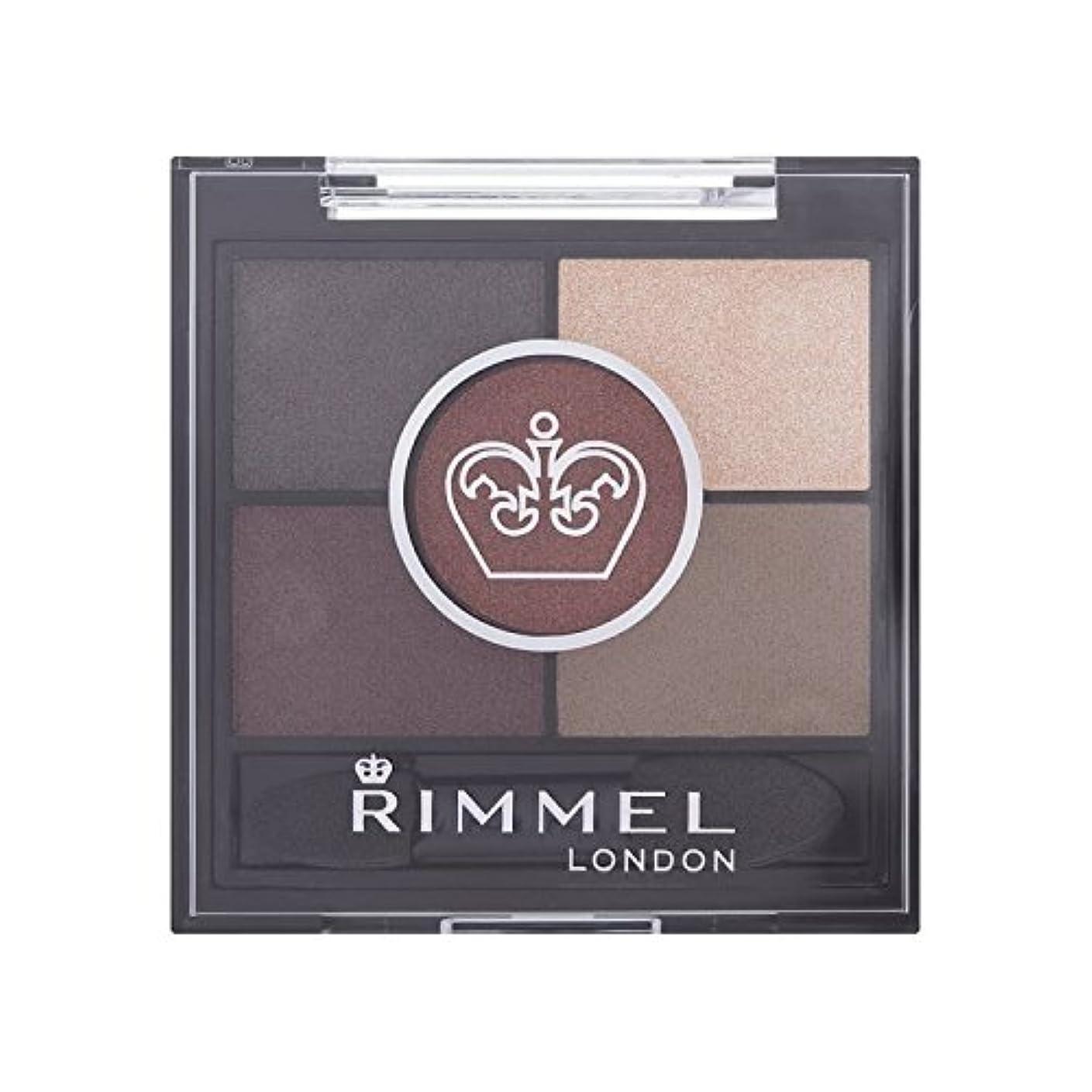 まともな主張シマウマ茶色のブリクストンリンメル5パンアイシャドウ x4 - Rimmel 5 Pan Eyeshadow Brixton Brown (Pack of 4) [並行輸入品]