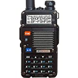 BaoFeng BF-F8HP (UV-5R 3rd Gen) 8-Watt Dual Band Two-Way Radio (136-174MHz VHF & 400-520MHz UHF) Includes Full...