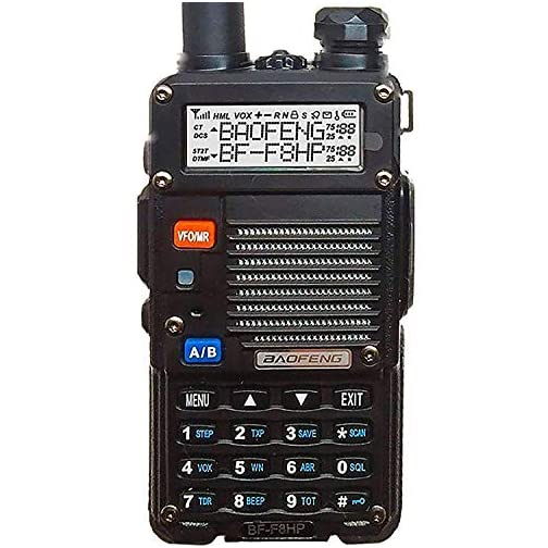 BaoFeng BF-F8HP (UV-5R 3rd Gen) 8-Watt Dual Band Two-Way Radio (136-174MHz VHF & 400-520MHz UHF) Includes Full Kit with Large Battery 3