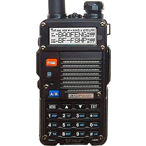 BaoFeng BF-F8HP (UV-5R 3rd Gen) 8-Watt Dual Band Two-Way Radio (136-174MHz VHF & 400-520MHz UHF)...