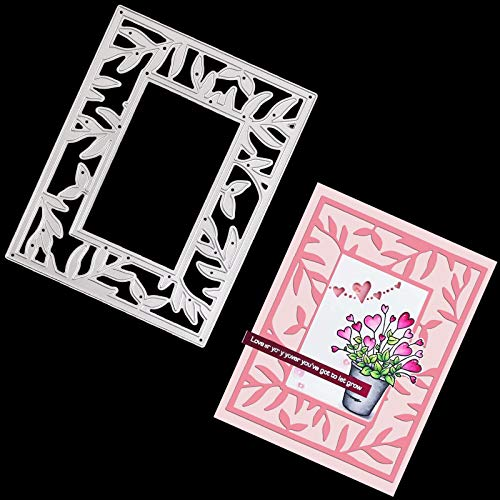 OOTSR Metal Plantillas Troquelar Marco Fondo de Encaje, Troqueles Scrapbooking para DIY Álbum De Recortes Álbum Tarjeta De Papel Arte Decoración Artesanal Plata