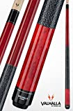 VIKING Valhalla 2 Piece Pool Cue Stick with Irish Linen Wrap VA114 (21oz, Red)