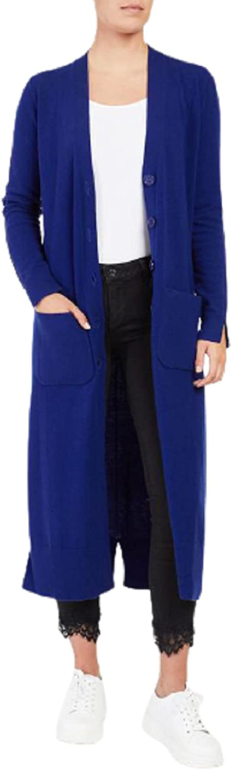 Twinset Milano Women's Cashmere Blend Closure Button trust Directly managed store Spli Fitted