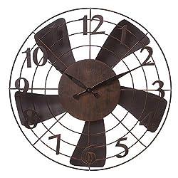 20 Vintage Metal Fan Wall Clock