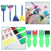 TOP-MAX - Kit di pennelli in spugna, kit di pennelli per pittura per bambini, per apprendimento precoce per bambini, kit di pittura fai da te per imparare i bambini, 56 pezzi #5