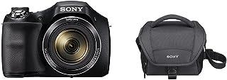 Sony DSC-H300 - Cámara compacta de 20.1 MP (pantalla de 3 zoom óptico 35x estabilizador de imagen electrónico vídeo HD 720p) negro + Sony LCSU11B.SYH - Bolsa de transporte para cámara/videocámara color negro