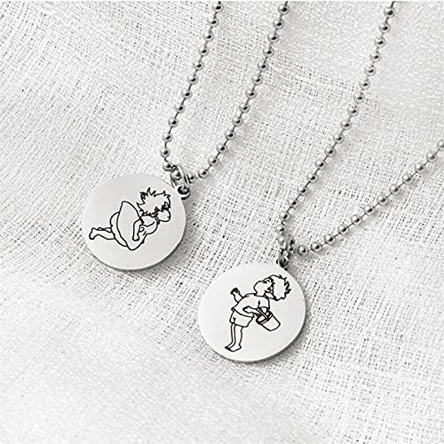 Ponyo på klippan, Ponyo halsband rostfritt stål hängen halsband kvinnor män par tillbehör älskare gåvor