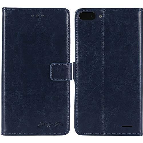 TienJueShi Dark Blau Premium Retro Business Flip Book Stand Brieftasche Leder Tasche Schütz Hülle Handy Handy Hülle Für Archos Core 55S 5.45 inch Abdeckung Wallet Cover Etui