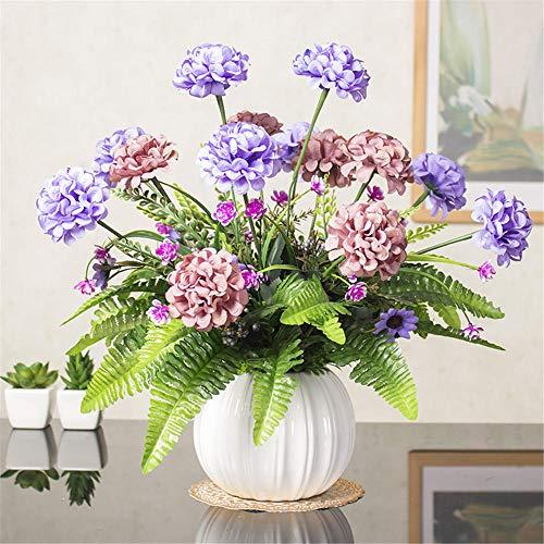 RZHGOOD Blumenarrangement Wohnzimmer Dekoration mit Vase Set Tisch Schaukel Blume Nachttisch Simulation Tuch Blumentopf Pflanze Schlafzimmer gefälschte Blume