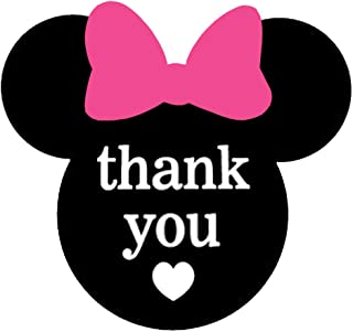 Mickey Minnie Mouse Thank You Stickers 2.38 x 2 inch Mickey Ears Thank You Labels for Envelope Seals Birthday Baby Shower Party 200 Pack