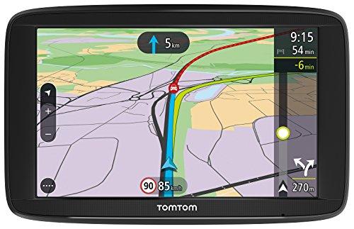 TomTom Via 62 Navigatore Satellitare per Auto - Europa 48, Display da 6', Mappe a Vita, Chiamate in Vivavoce, Nero/Antracite [Versione Italia]