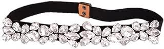 elastic rhinestone belt