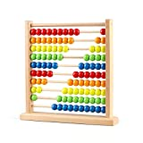 Joqutoys Wooden Abacus Counting Toy, Educational Math Learning Beads Game for Early Education & Development with 100 Beads