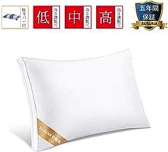 枕 安眠 人気 肩こり 良い通気性 快眠枕 高級ホテル仕様 高反発枕 横向き対応 通気性抜群 抗菌 防臭 丸洗い可能 立体構造43x63cm ホワイト