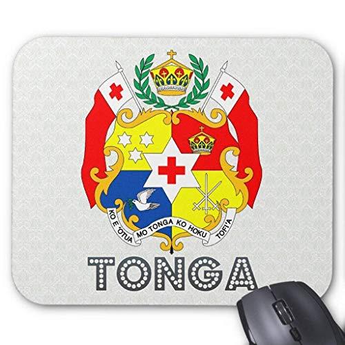 Accesorios de ordenador anti-fricción pulsera Tonga Coat of Arms Mouse Pad 18X22
