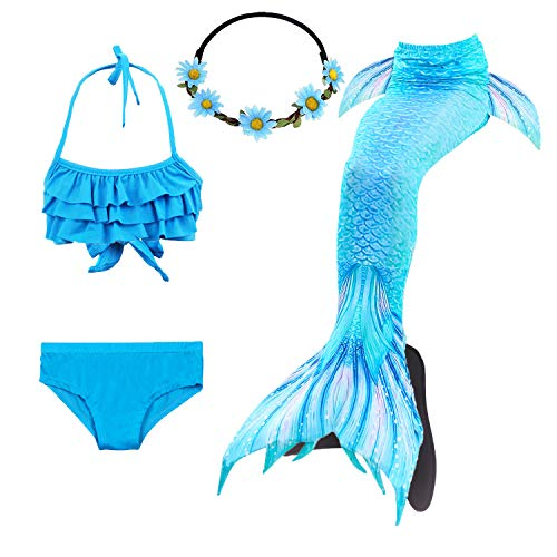COZY HUT 2019 Mädchen Bikini Badeanzüge Schönere Meerjungfrauenschwanz zum Schwimmen mit Meerjungfrau Flosse Schwimmen Kostüm Schwanzflosse