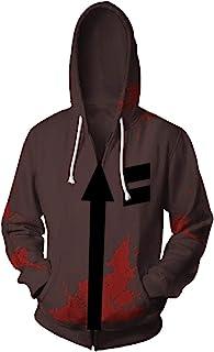 Obtai Halloween Isaac Foster Zack Hoodies Jacket Cosplay Costume 3D Printed Casual Zipper Sweatshirt Coat Unisex
