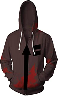 Halloween Isaac Foster Zack Hoodies Jacket Cosplay Costume 3D Printed Casual Zipper Sweatshirt Coat Unisex