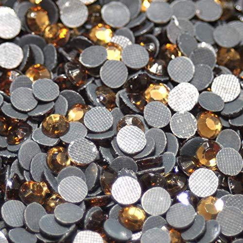 1000 Strass thermocollant Rhinestone Hotfix [Ø2mm s06] Topaze N° 120