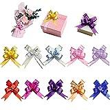 100 paquetes de lazos de Navidad con lazo para regalo de Navidad, Año Nuevo, Acción de Gracias, fiesta de cumpleaños, boda, adornos de varios colores.