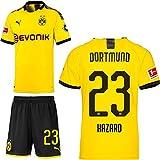 PUMA Borussia Dortmund BVB Heimset 2019 2020 Home Kit Trikot Shorts Kinder Thorgan Hazard 23 Gr 140