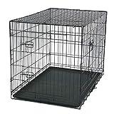 HYLY 42' Mascota Kennel Gato Perro Plegable Acero Caja Animal Playpen Wire Metal-Un