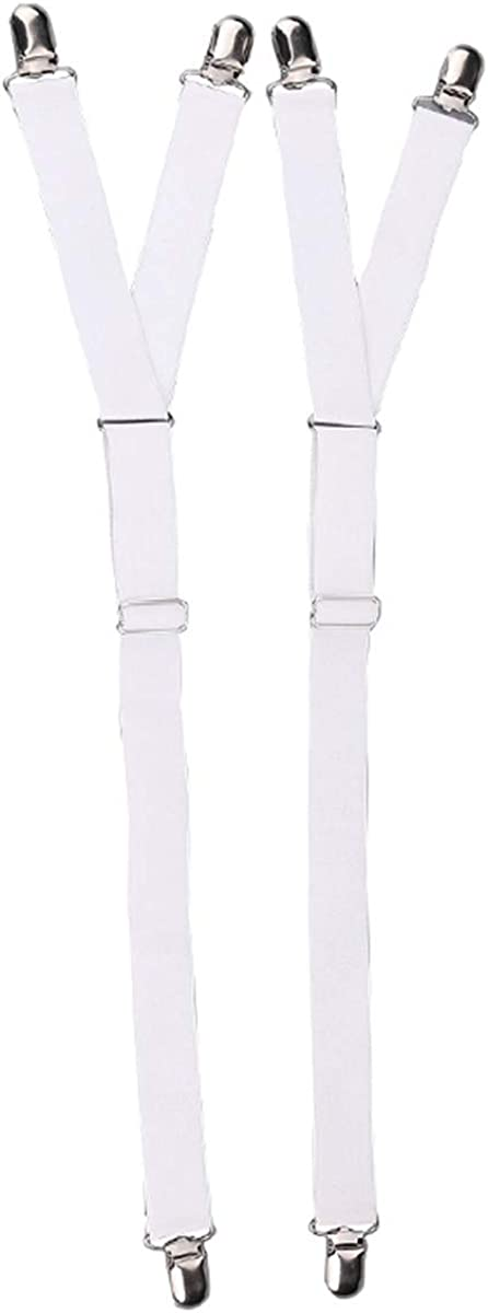 Mens Thigh Shirt Stay Suspender Garters with Non-slip Locking Clamps