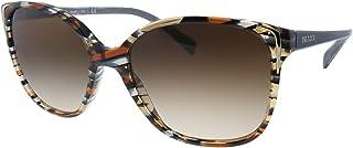 Prada PRADA SPR 01OS STRIPED BLUE BEIGE/BROWN SHADED women Sunglasses