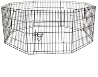 Suitable for Dogs, puppies, cats, rabbits and other small animals. Please check the dimensions to make sure this is the correct size for your pet. Foldable so easy to fold away and store when not in use. Can be used indoors or outdoors, perfect for i...
