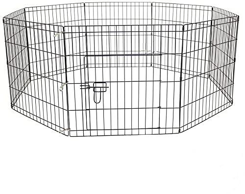 AVC Designs Pet Dog Pen Puppy Cat Rabbit Foldable Playpen Indoor/Outdoor Enclosure Run Cage (Medium: Height 76cm)