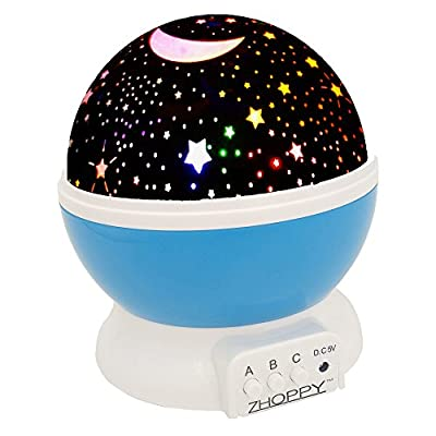 Night Lights for Kids, ZHOPPY Star and Moon Starlight Projector Bedside Lamp for Baby Room Kids Bedroom Decorations - Birthday Gifts for Kids