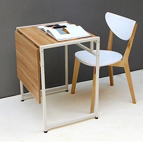 Klapptisch ZZHF einziehbar/Einzel- / Doppel-Personen/Klapp Esstisch/Portable Buch Schreibtisch/Laptop Tisch/Haushaltsgegenstände Tabelle Schreibtische (Farbe : Weiß)