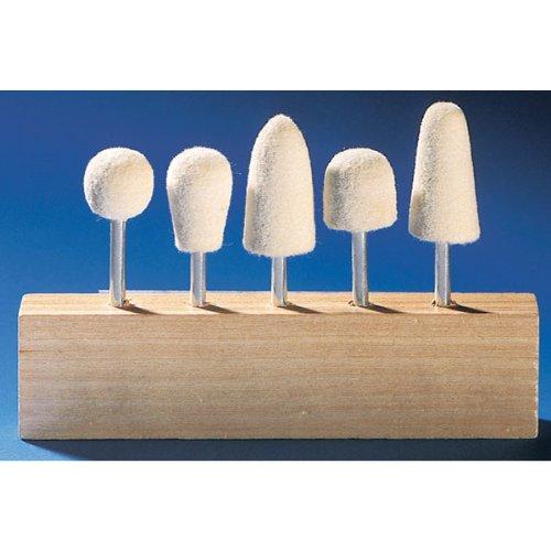Eastwood 5 Pieces 1/8 in. Deburring and Polishing Felt Bob Kit Buff Bob Assortment Mini Cones for Rotary Tools