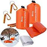 Xtextile 2Pack Emergency Sleeping Bags Lightweight and Compact Sack Survival Sleeping Bag Waterproof Thermal Emergency Bags Survival Gear for Outdoor Camping, Hiking, Wild Adventures