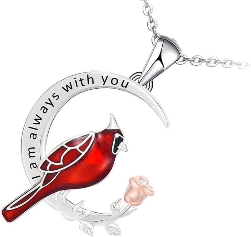 Holibanna Cresent Moon Necklace Bird Pendant Necklace for Friends Couples All Match Necklace Gift Jewelry