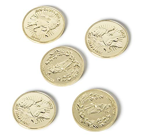 Gold Coins, Collecting Coins Golden Metal Coin 5 Pcs