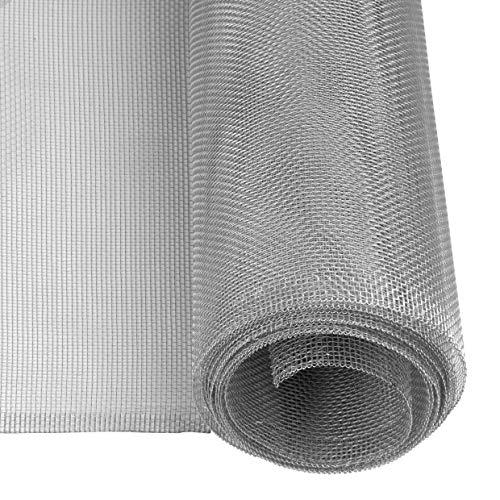 Windhager mosquitera, Tejido de Aluminio, Robusta, Resistente, Plateada, 100 x 250 cm, 03621
