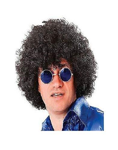 Volwassen Mens 60s 70s 80s Disco Pop Scouser Afro Pruik Haar Fancy Jurk Accessoire Nieuwe