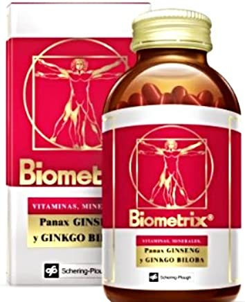 Biometrix Multivitamin and Mineral Natural Supplement With Ginseng And Gingkgo Biloba 100 Capsules